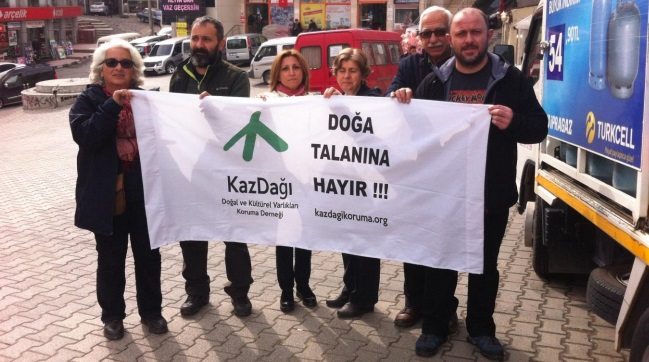 Kaz Dağı'ndan  Cerattepe'ye  tam destek