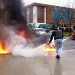 Arsin OSB'de Yangın eğitimi