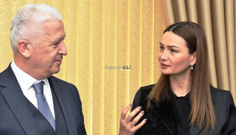 Mehmet İspiroğlu, Azerbaycan Cumhuriyeti Milletvekili Ganire Paşayeva'yı ağırladı