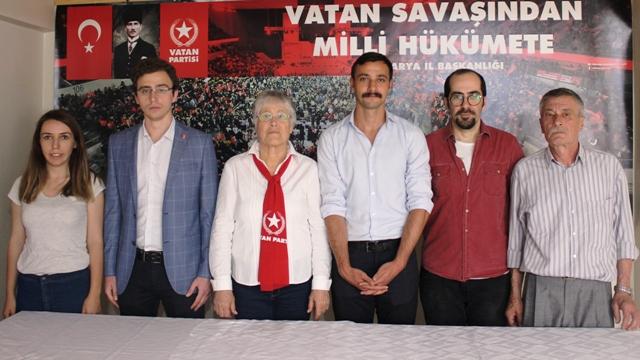 Vatan Partisi Sakarya Milletvekili adaylarını basına tanıttı.