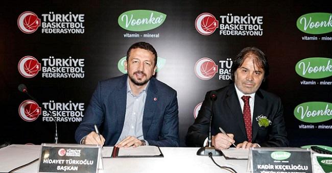 Voonka, Türkiye Basketbol Milli Takımları'nın  resmi vitamin ve mineral sponsoru oldu