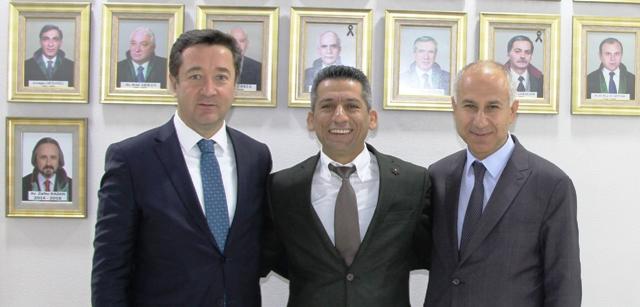 Erhan Çavuş İle Tekin Kaya'dan  Baro Başkanı Av. Abdurrahim Burak'a Ziyaret