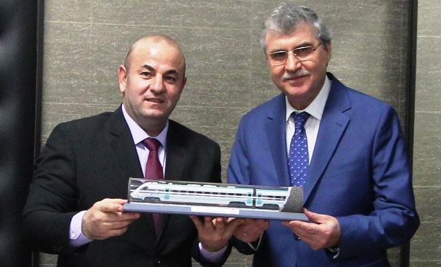 Ekrem YÜCE Türkiye Vagon Sanayi A.Ş'yi ziyaret etti .