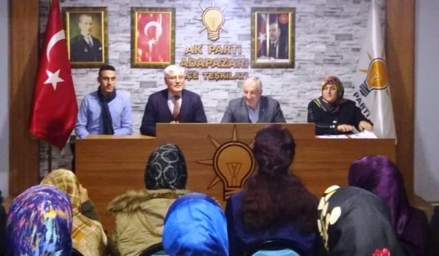 Mustafa Ak AK Parti Adapazarı İlçe Teşkilatını Ziyaret Ett