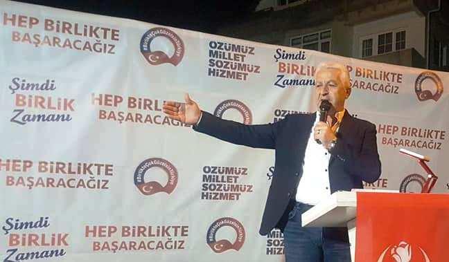 Mehmet İspiroğlu,  Yuvalıdere'ye söz verdi