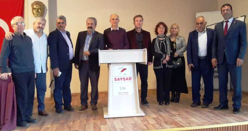 """SAYŞAD 136. etkinliğinde """"Demokrasi ve Toplum"""" konuşuldu"""