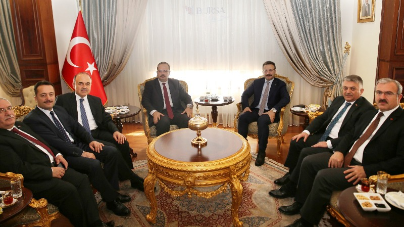 Vali Nayir den Bursa Valisi Canbolat a Ziyaret