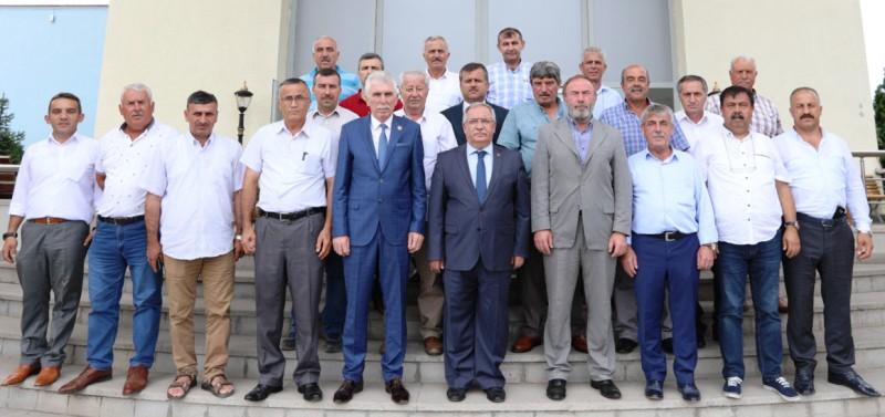 Muhtarlar Federasyonu Yeni Yönetiminden Vali Nayir e Ziyaret