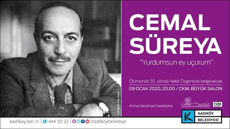 Cemal Süreya ölümünün 30. Yılında Kadıköy Belediyesi'nin ev sahipliğinde anılıyor.
