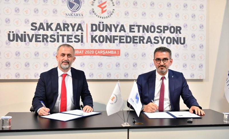 Sakarya Üniversitesi ile Dünya Etnospor Arasında İşbirliği