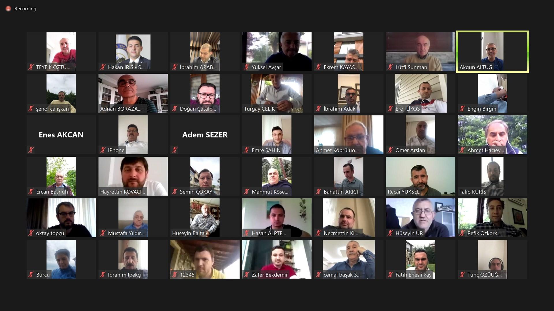 SATSO'dan Video Konferans'lı Bayramlaşma Töreni