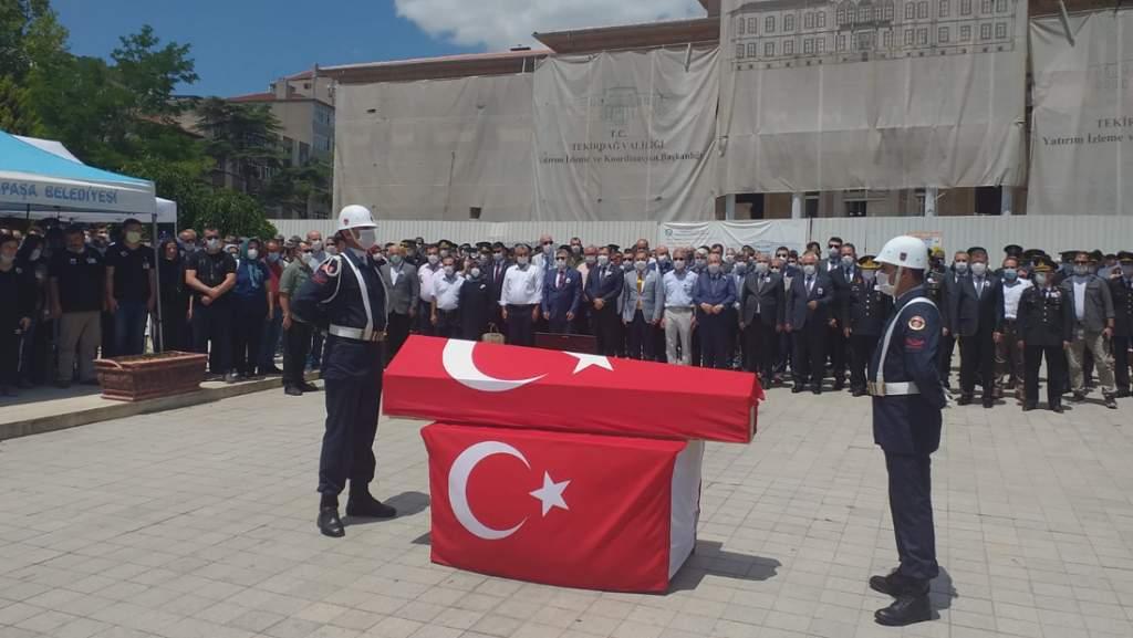 Jandarma Astsubay Kıdemli Başçavuş Halil Tuna Akgöz son yolculuğuna uğurlandı