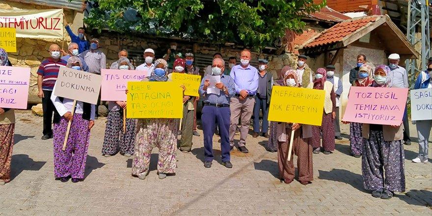 Beypazarı'nda köylüler madene karşı eylem yaptı
