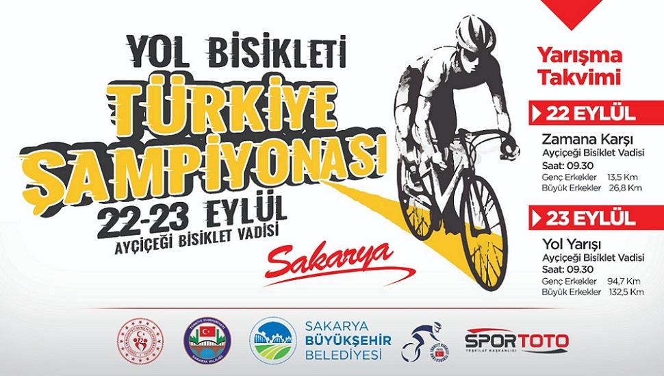 Yol Bisikleti Türkiye Şampiyonası 22-23 Eylül'de Sakarya'da
