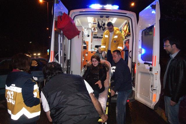 Hendek  Yeni mahallede kaza iki yaralı
