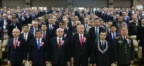Davutoğlu, Anayasa Mahkemesinin 54. kuruluş yıl dönümü törenine katıldı