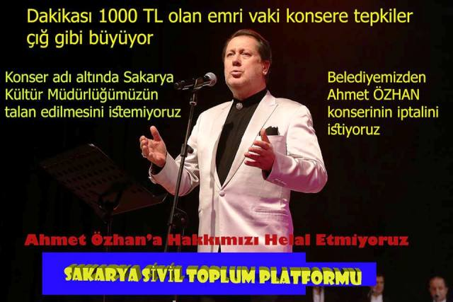 Ahmet ÖZHAN ,Mustafa CECELİ Konseri iptali isteniyor