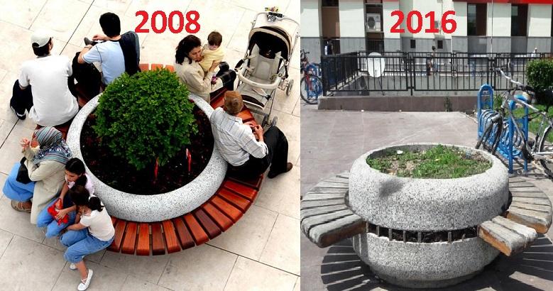 Kent Meydanı  son 8 yılda tanınmaz hale geldi