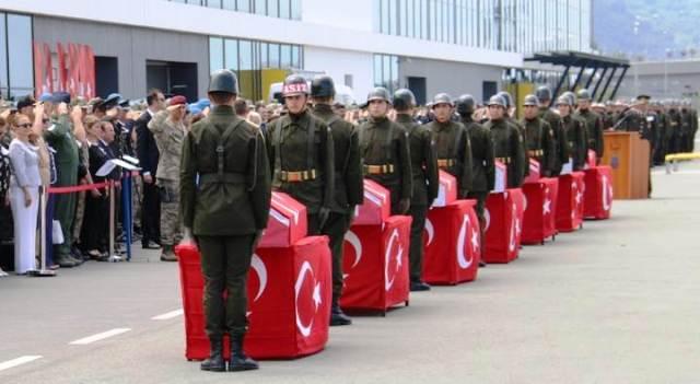 Şehitlerimiz Askeri Törenle Memleketlerine Uğurlandı