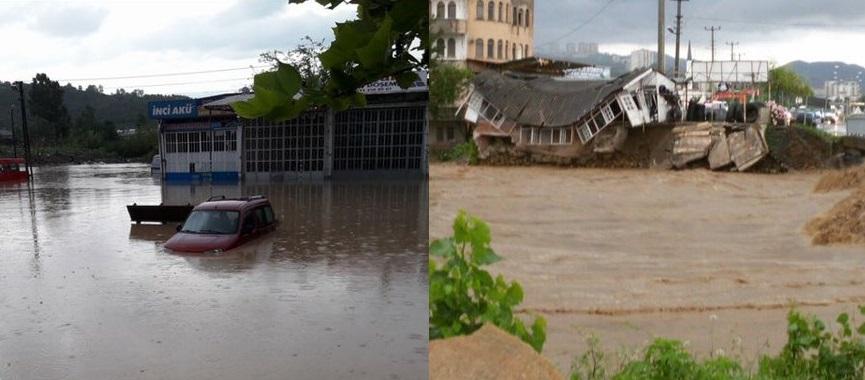 Çarpık  Yapılaşma  Sağanak Yağışlarla Felaket  getirdi
