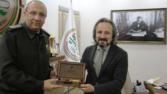 Jandarma Komutanı Albay Emin Dursun'dan Baro Başkanı'na Ziyaret