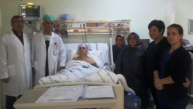112 yaşındaki hasta ameliyat edildi