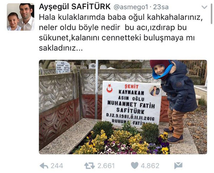Muhammet Fatih Safitürk'ün eşinin paylaşımı yürek burktu.