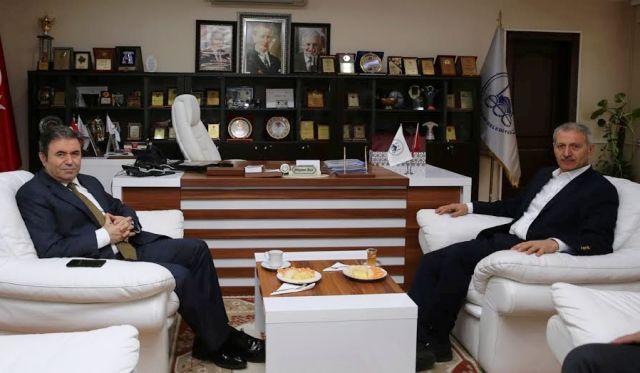 Emniyet Müdürü Eyüp Pınarbaşı'ndan   Başkan Dişli'ye ziyaret