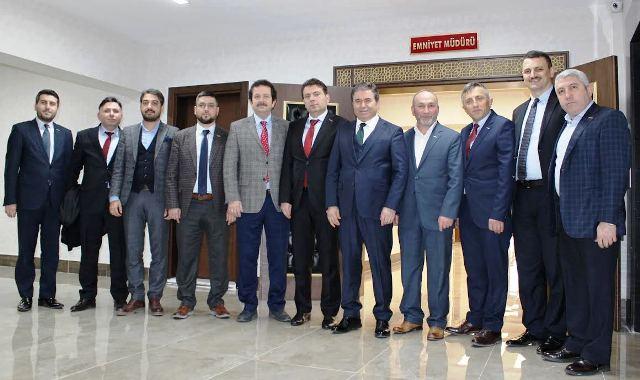 MÜSİAD Sakarya Emniyet Müdürü Eyüp Pınarbaşı'yı ziyaret etti.
