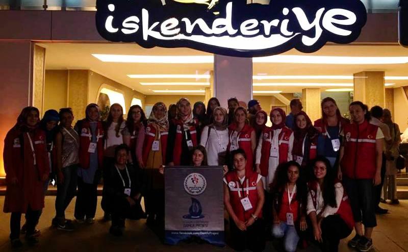 Damla Projesi  Gönüllü Gençleri İskenderiye'yi tercih ettiler