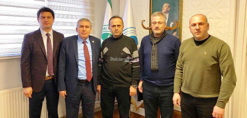 Askf başkanı Yaşar Zımba, APEK başkanı Sebahattin Karasakal'ı ziyaret etti