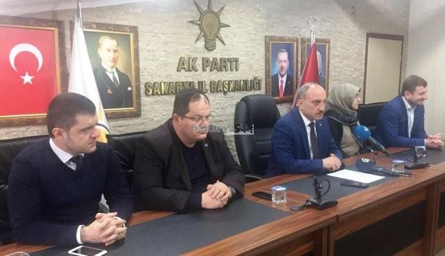 """AK Parti Sakarya  İl Başkanı Fevzi Kılıç: """"Darbe İnsanlık suçudur """""""
