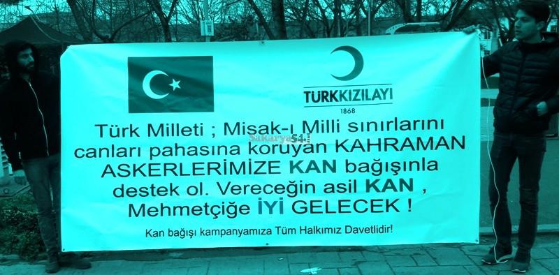 İyi Parti Sakarya teşkilatı üyeleri  Mehmetçiğe kan bağışında bulundu.