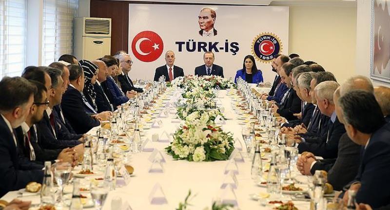 Cumhurbaşkanı Erdoğan Türk İş'i ziyaret etti