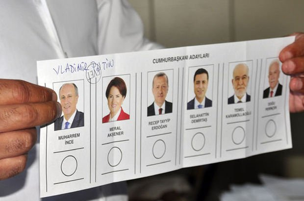 24 Haziran seçim sonuçlarına göre, oyların yüzde 2.1'i geçersiz