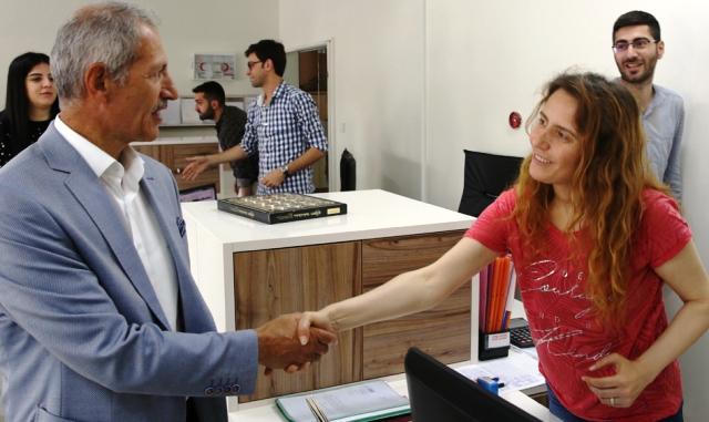 Başkan  Süleyman Dişli, personelle bayramlaştı