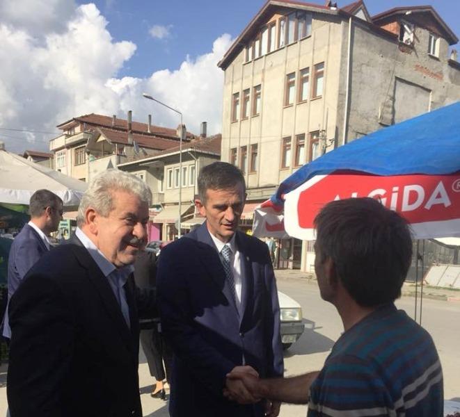 İYİ Parti milletvekili adayları Dikbayır , Arslan,  Kır ve  Burak  Geyve'de