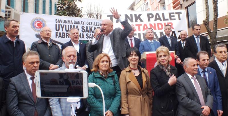 Tank Palet'in özelleştirmesine karşı , 5 saat içinde 5 bin imza toplandı.