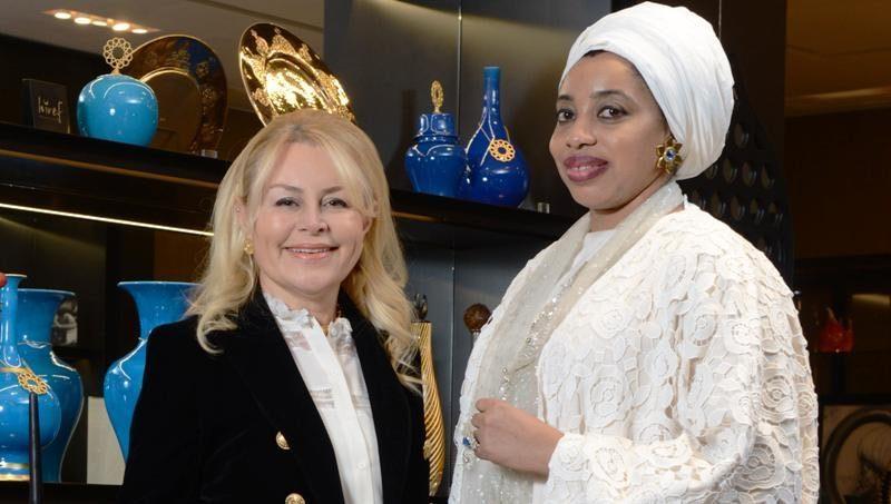 Nijerya Kraliçesi Zaynab Otiti Obanor, Demet Sabancı Çetindoğan'ın konuğu olarak İstanbul'a geldi.
