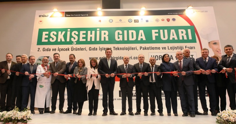 Eskişehir 2. Gıda Fuarı ETO – TÜYAP Fuar Merkezi'nde açıldı.