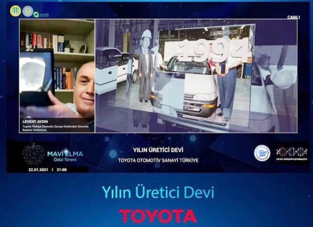 Toyota Otomotiv Sanayi Türkiye'ye ''Yılın Üretici Devi'' ödülü