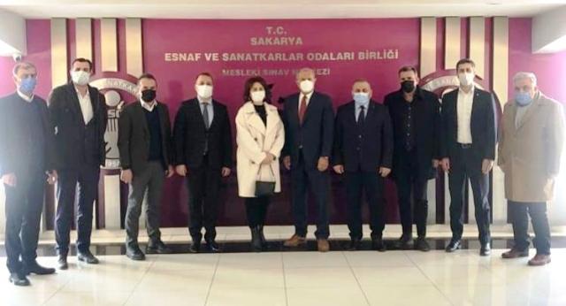 """""""DEVA Partisi SESOB'u ziyaret etti."""""""