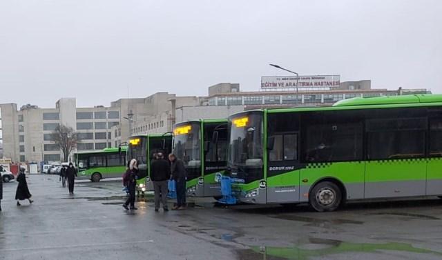 Büyükşehir Ulaşım ekipleri 7-24 sahada