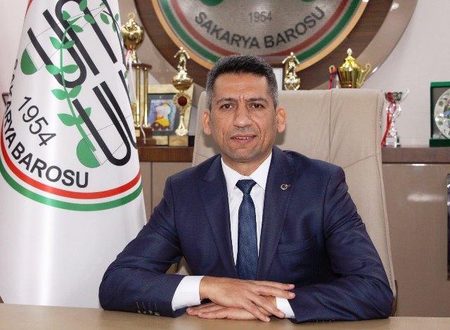 """Sakarya Barosu Başkanı Av. Abdurrahim Burak""""İstanbul Sözleşmesi yürürlüktedir"""""""