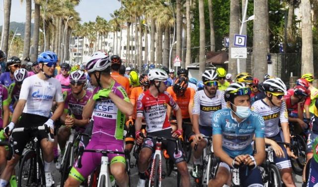 56. Cumhurbaşkanlığı Bisiklet Turu'nun  Marmaris – Turgutreis etabı koşuldu.