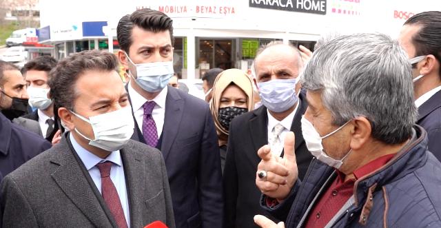 ESNAF DEVA Parti Genel Başkan Ali Babacan'a ekonomik krizden yana dert yandı.
