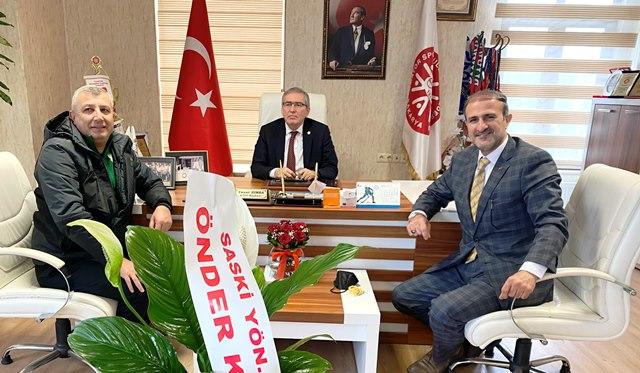 Önder Karan'dan Yaşar Zımba'ya tebrik ziyareti.
