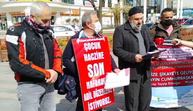 """Nafaka yürüyüşüne devam eden  Erkan Can """"her şeyimi kaybettim"""""""