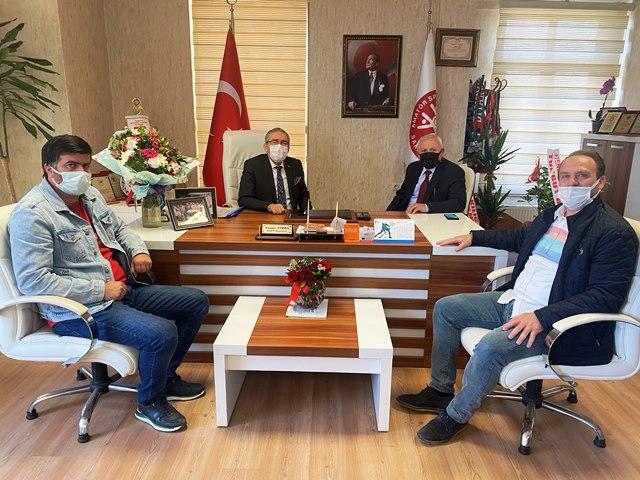 ASKF Başkanı Yaşar Zımba ve ekibine tebrik ziyaretleri devam ediyor.