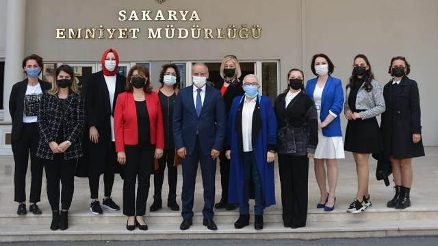TKB Sakarya Şube Başkanı Tevhide Yağan,il Emniyet Müdürlüğünü ziyaret etti